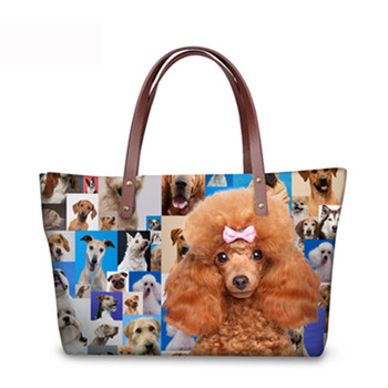 Nopersonality Rottweiler Pug Dog Women Handbags Casual Large Women's Shoulder Bag Top-handle Bags Animal Tote Purse