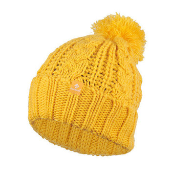 Holiday Sale Kenmont Brand Wool Hand Knit Winter Beanie Hat Mustard Yellow Warm Vintage Women Ladies Cap 1225-40