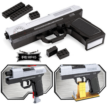 Military serial Army Pistols Air Gun Enlighten Building Block Set 3D Construction Brick Toyscompatiable with lego gift set kids