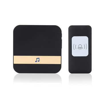 CACAZI 2017 NEW Wireless doorbell 52 Music 300M Remote Control Door bell US EU Plug Intelligent Learning LED Reminder A9
