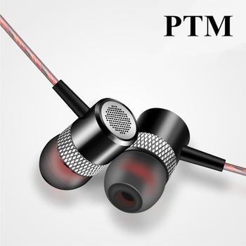 In ear HRH Stereo Earphone Metal Bass Headset Hifi Sport Headfone with microphone handsfree for smart phone MP3 Player