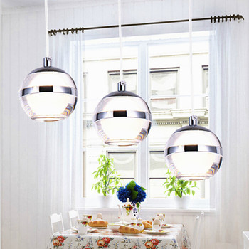 Modern fashion brief acryl led 1/3/5/6 heads pendant light for dining room living room AC 85-265V 1019