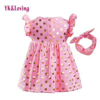 Girl Pink Sequins Dress Baby Kids 1-6 Year 2017 Summer Style Dresses Infant Children Girls Costume Party Princess Clothing
